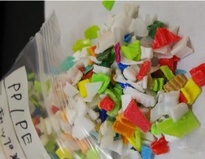 PP/PE-Crushed recycle mixed color bottle polypropylene recycle pp granules